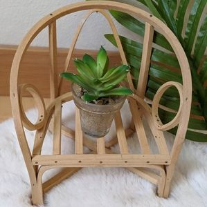 Wooden chair plant holder